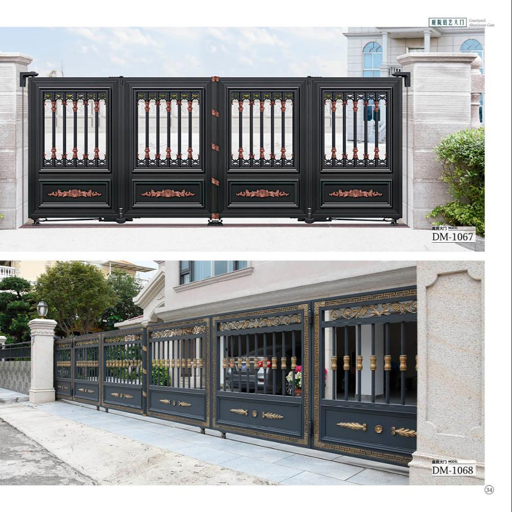 Customized high quality aluminumheavy-duty electric sliding door with windproof, rainproof and sun-proof main entrance ga