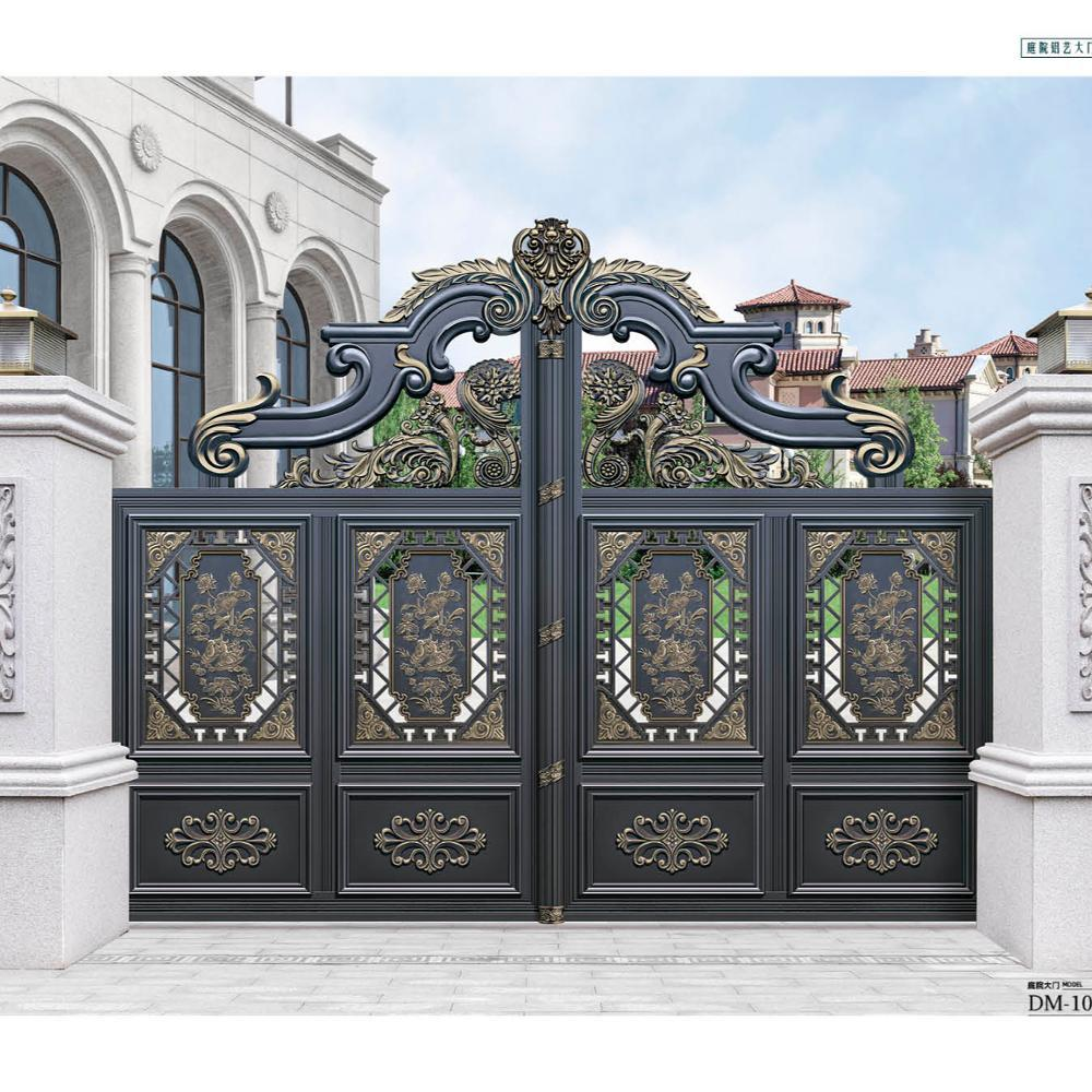 Cheap electric sliding aluminum alloy gate garden villa entrance door