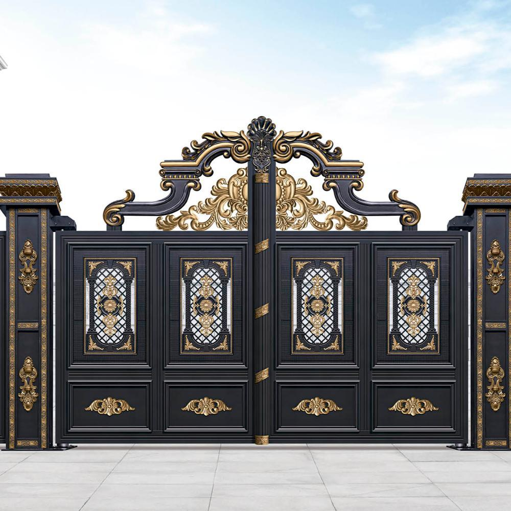Popular European electric sliding aluminum alloy gate garden villa entrance door