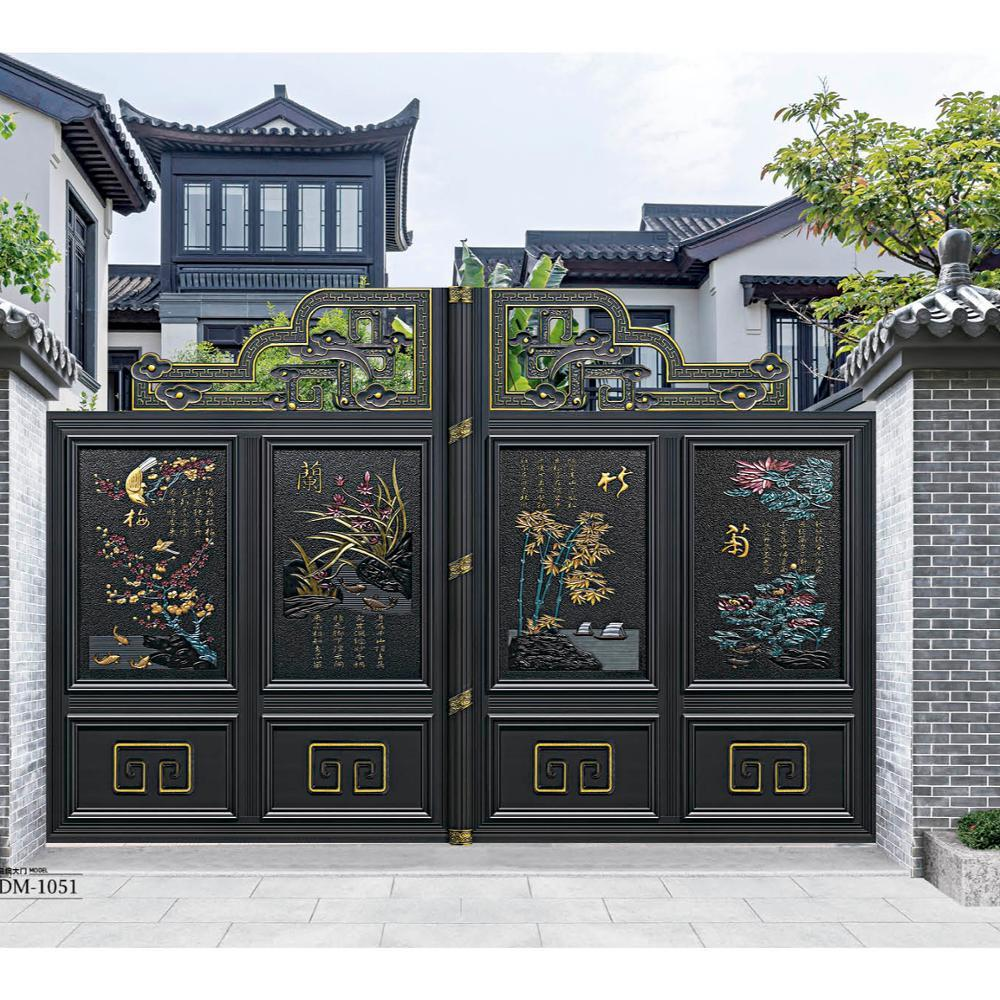 China Aluminum alloy courtyard fence gate villa garden entrance gate