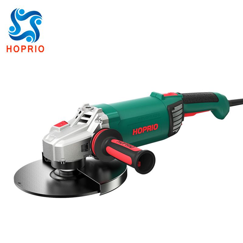 Hoprio 9 inch 220V 2600W high efficiencybrushless angle grinderwholesale