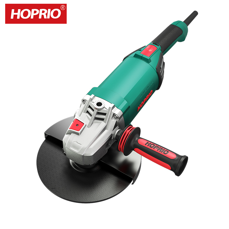 9 Inch 2000W 230V Brushless Heavy Duty Angle Grinder Polishing Machine From China HOPRIO