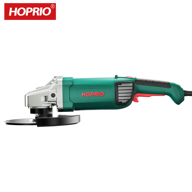 Hoprio China Factory OEM Support Electric Power Tool Brushless Angle Grinder