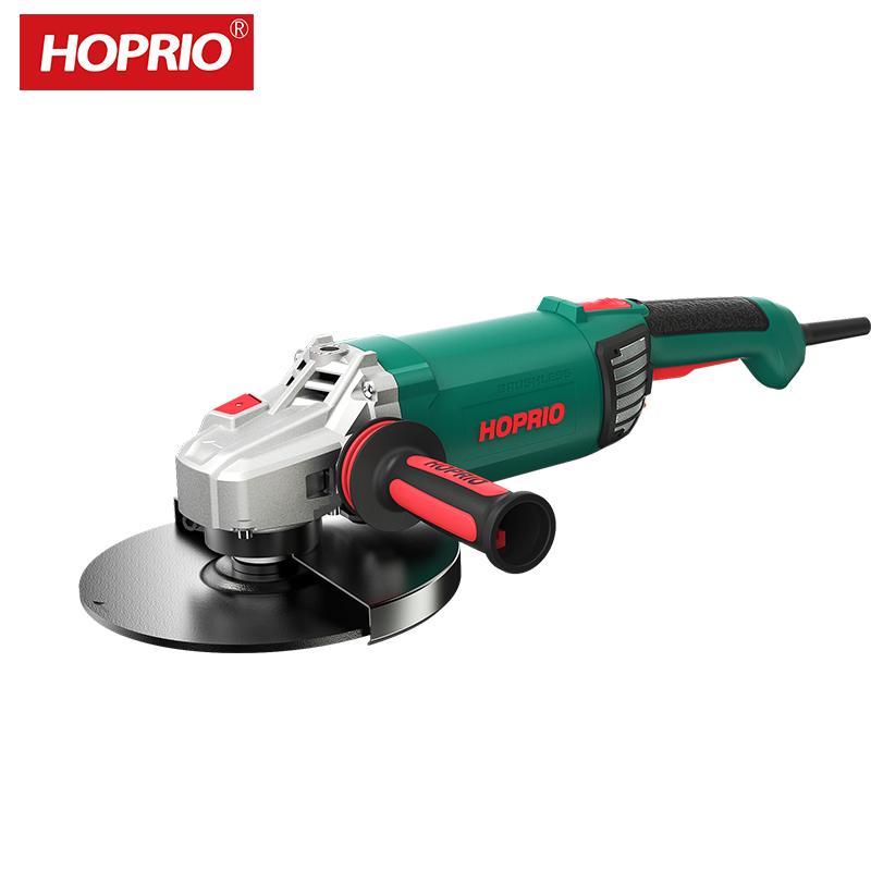 HOPRIO S1M-230YE1 9 Inch 2000W 230V Brushless Heavy Duty Angle Cutter Grinder