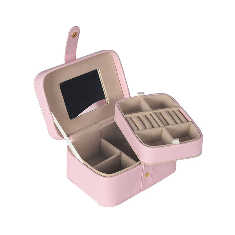 Custom Jewelry Packaging Fashion Luxury Delicate Pu Leather Jewel Box for Ladies