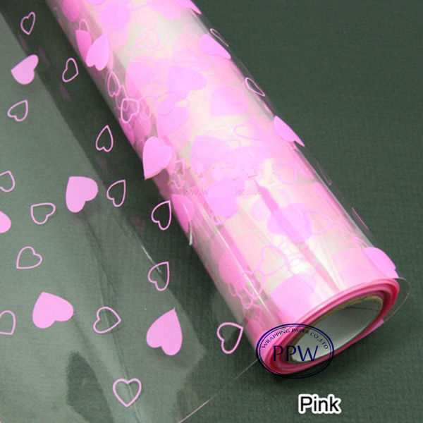 Various Solid Colors Printed Cellophane Wrapping film blue