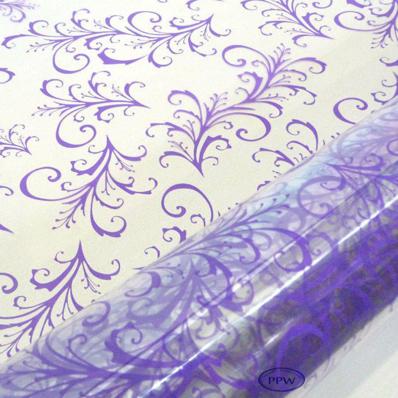 Wholesale custom printed transparent gift wrapping paper cellophane film