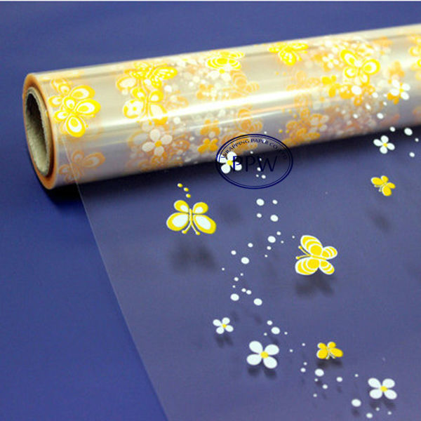 Printed Cellophane Wrapping Paper coloured foil wrap