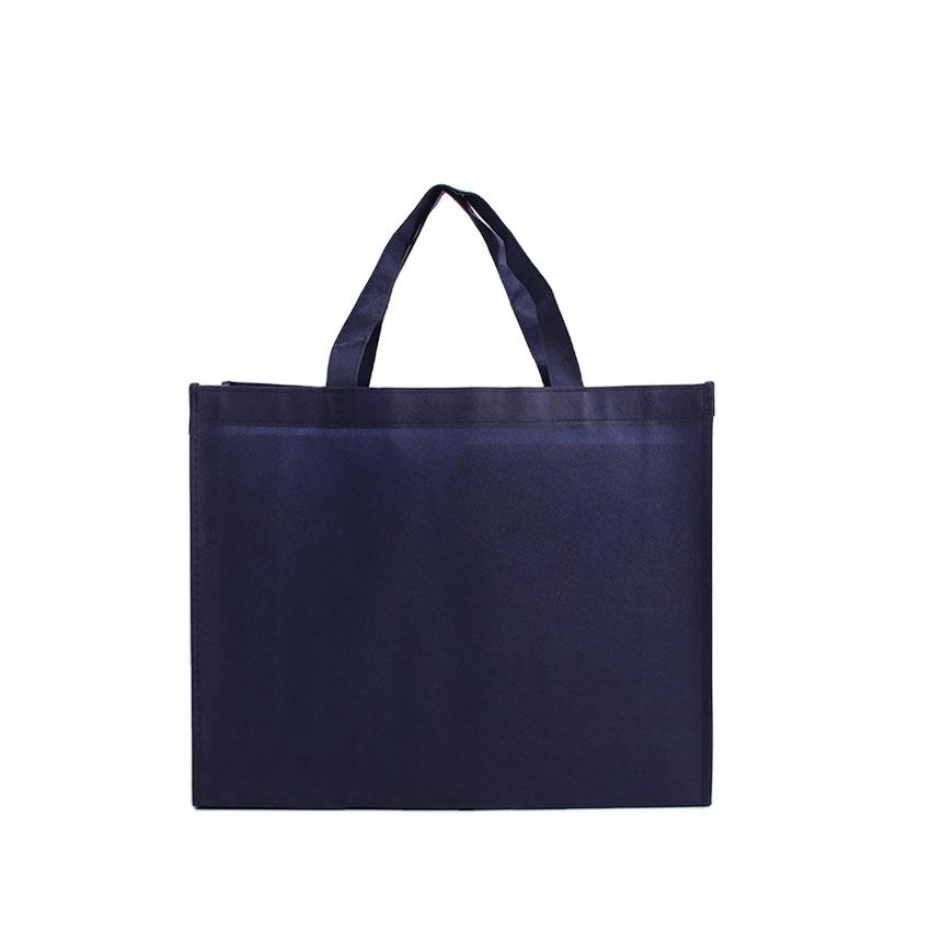 laminated machine making carry small nonwoven bag silver metallic