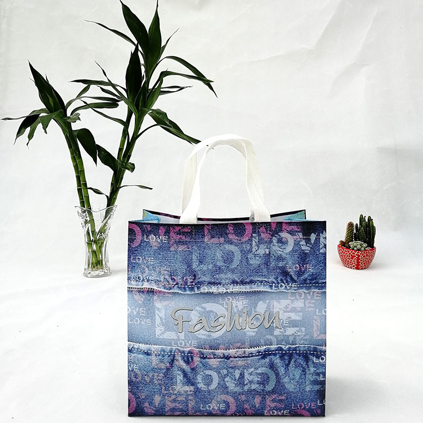 Branded Low Cost Non Woven Bags 100%PP Spunbond Nonwoven shopping bags with printed