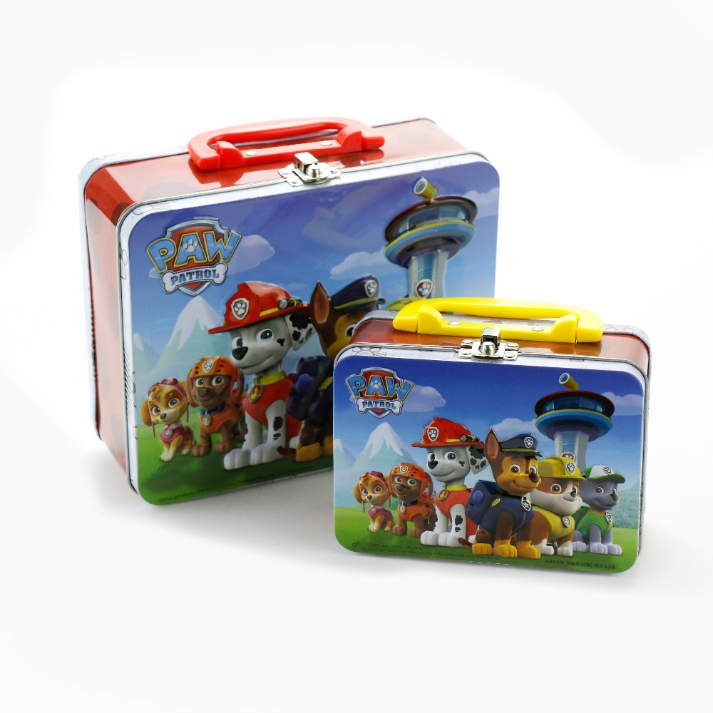 wholesale custom gift tin lunch tin box with handle
