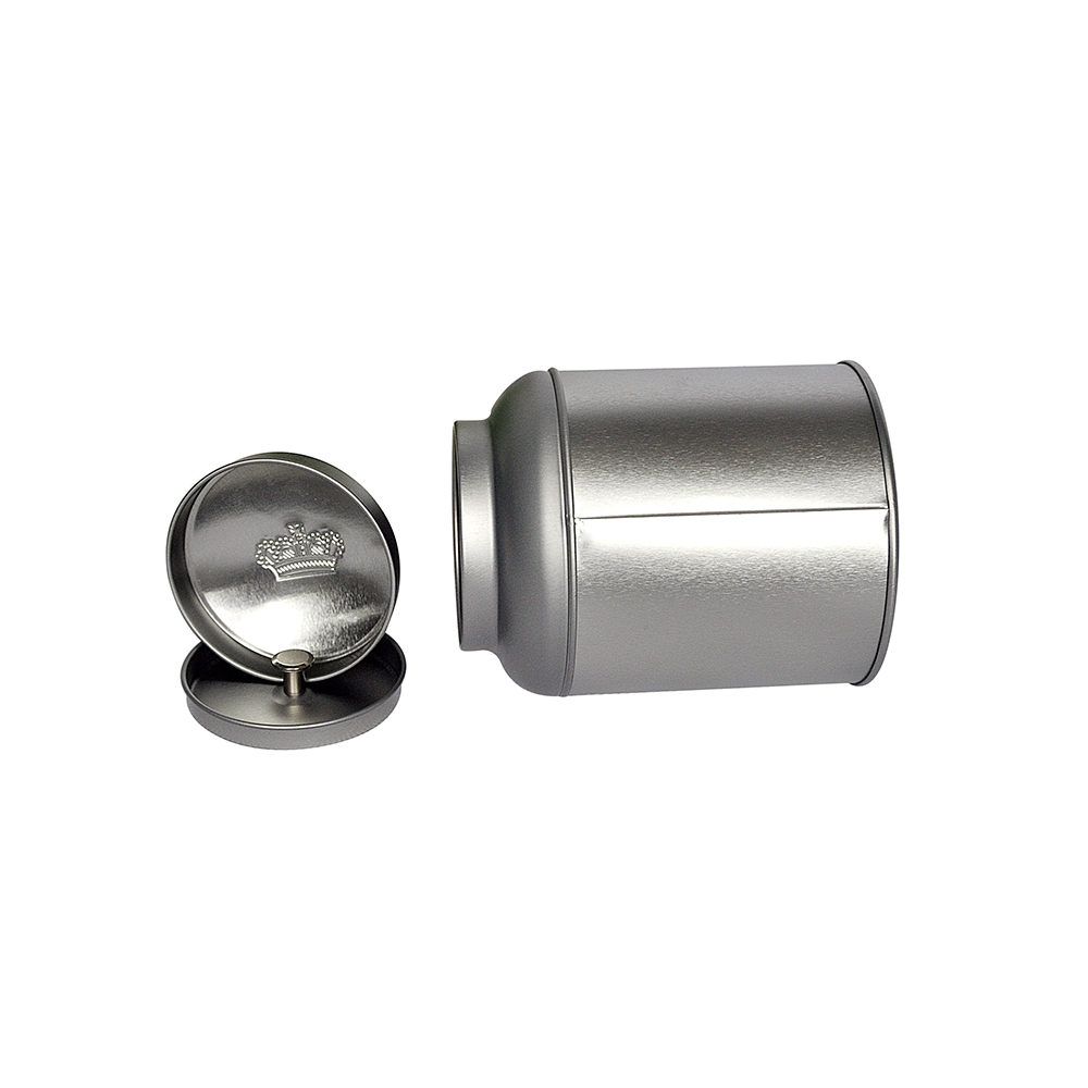 Metal material and tin metal type spice tin container