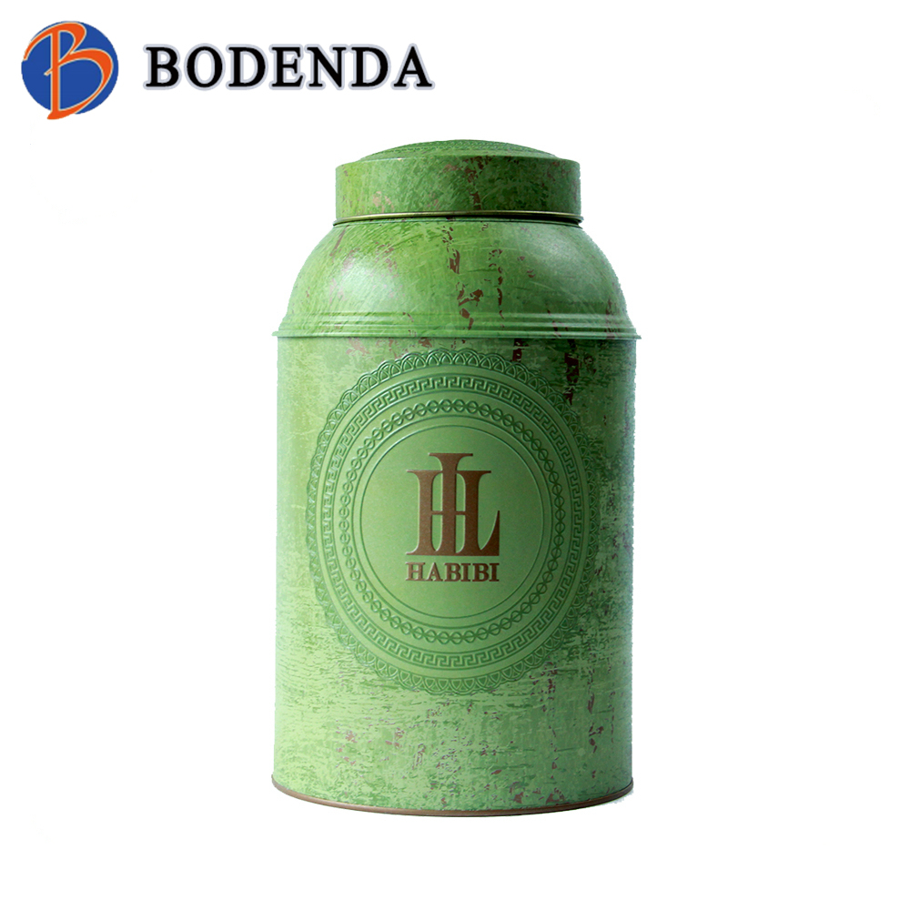 decorative large round tea tins