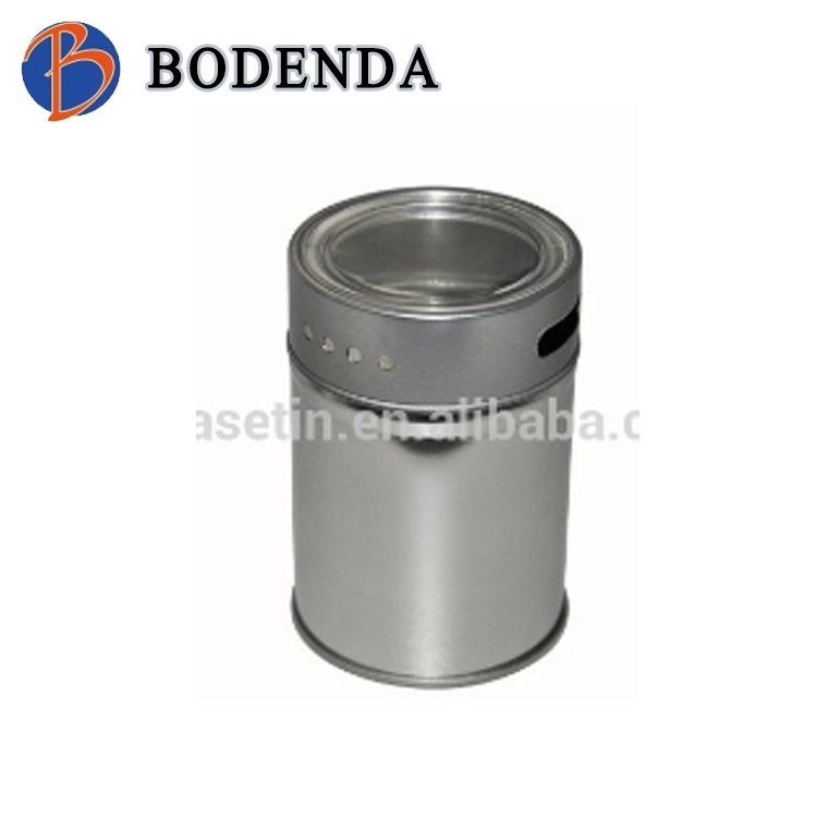 spice packaging containers, spice shaker tin, glass top tin boxes for spices