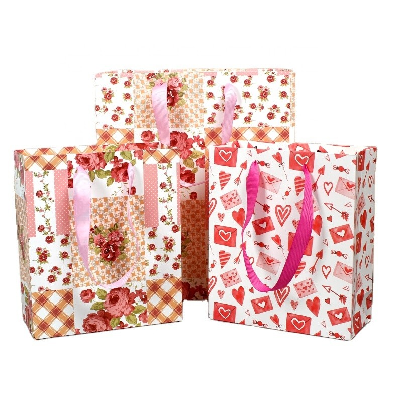 New Valentine's Day handbag rose plaid love letter envelope gift bag packaging bag new handbag for foreign trade