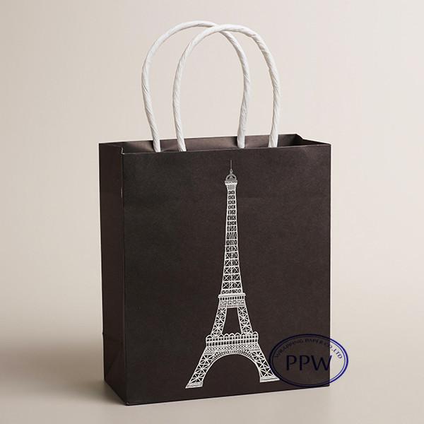 Fashion paper carry bags Black white design paper bag