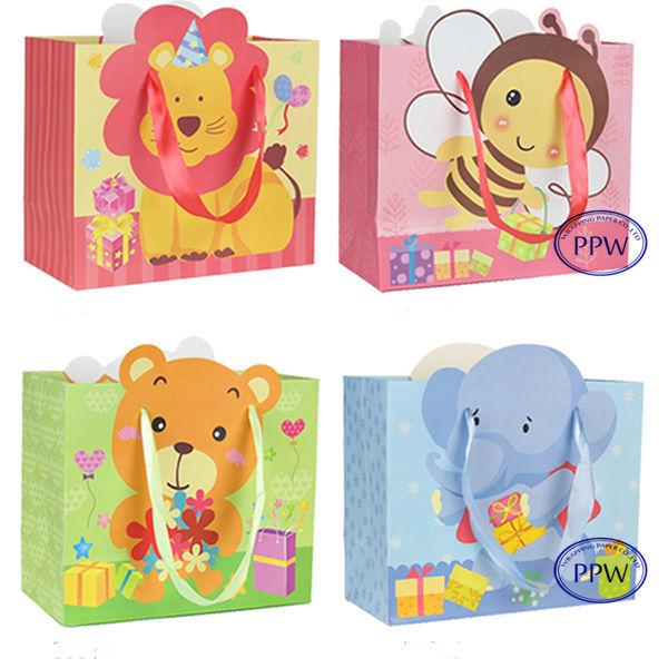 Favors Bags Baby 3D cartoon design paper bags paper gift bags