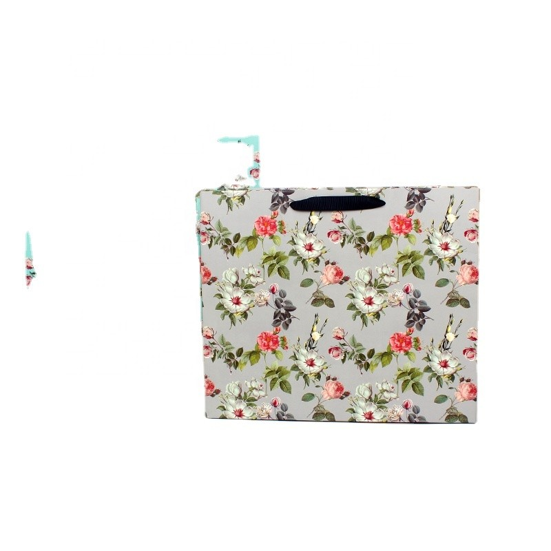 New flower handbag CMYK gift bags boutique shopping bags multicolor optional foreign trade paper bag manufacturers direct sales