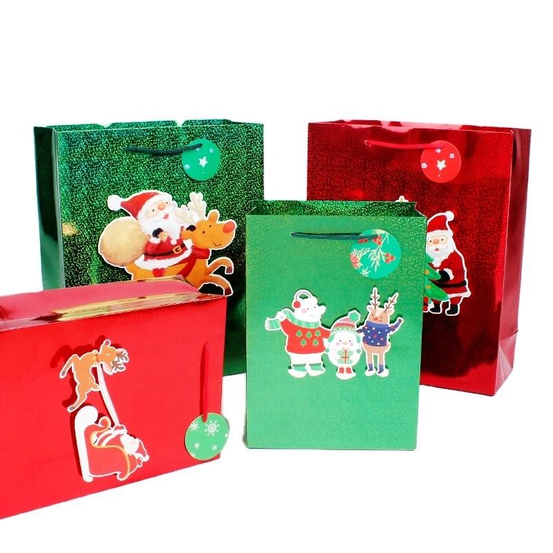 New high-end laser handbag romantic Valentine's Day gift bag clothing shopping bag packaging bag paper bag custom
