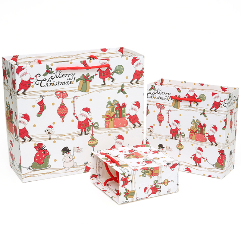 High Quality Christmas Eve Paper Gift Bag with Handles