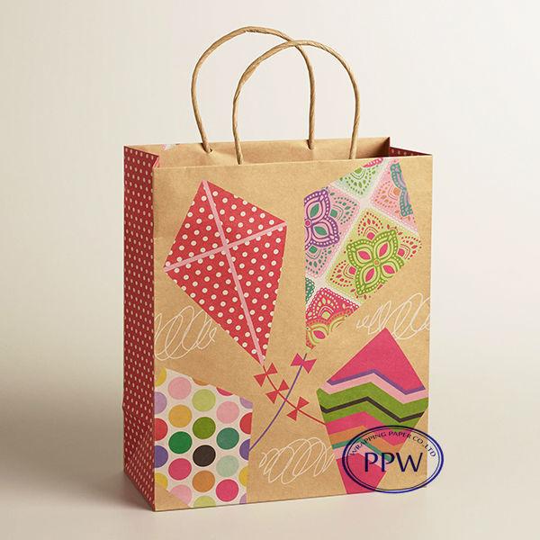 Brown Paper bag packaging gift paper manufaturer
