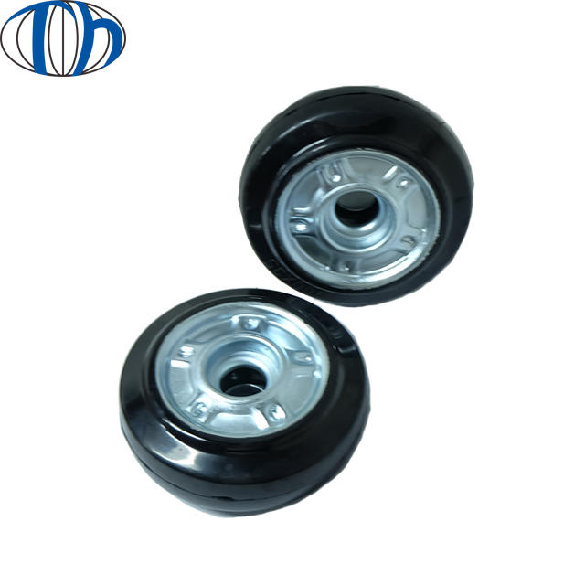 Black Non-Inflatable Upgraded Parts Rubber Tyre Durable Wheel Solid Tire