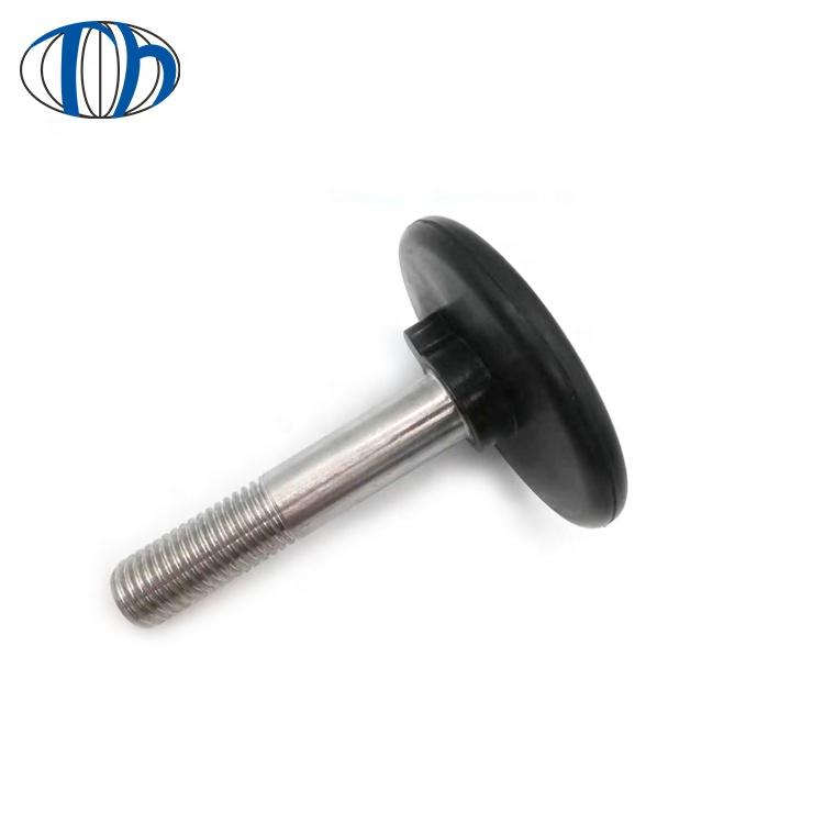 factory price insulation natural rubber screw with metal pole , screw fix rubber feet