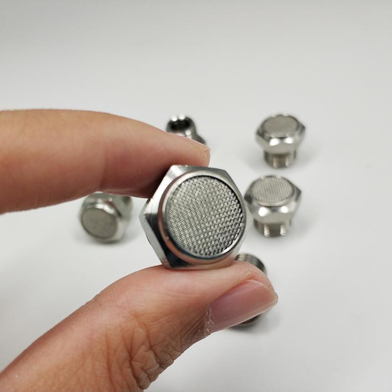 SS316 SS304 Air Silencer Pneumatic Part Flat Head SSV Silencer Pneumatic Muffler