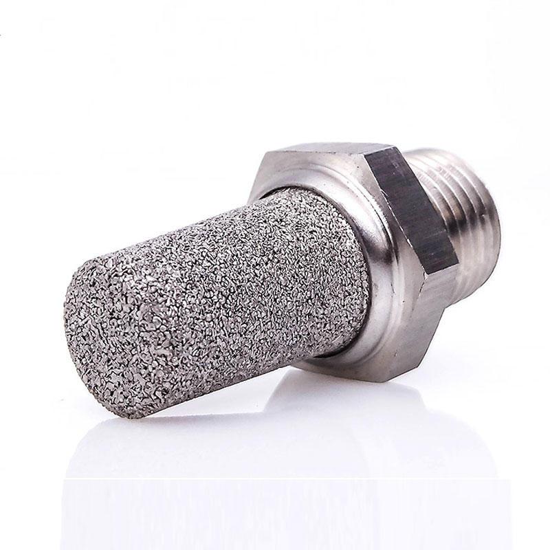 Solenoid valve air silencer SS316 cone type SSV pneumatic muffler