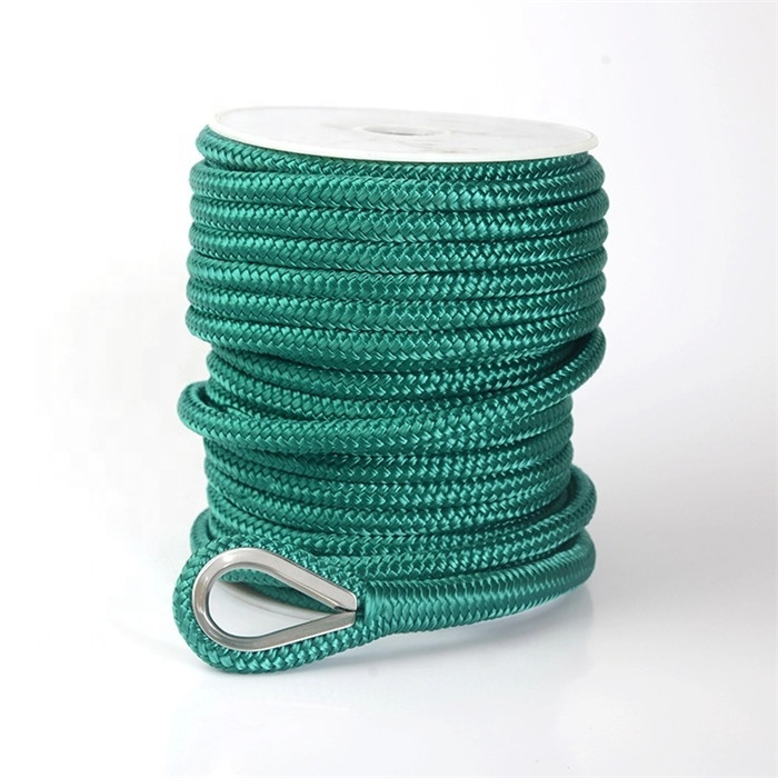 rope colored braided 6mm nylon rope Mooring rope Anchor line