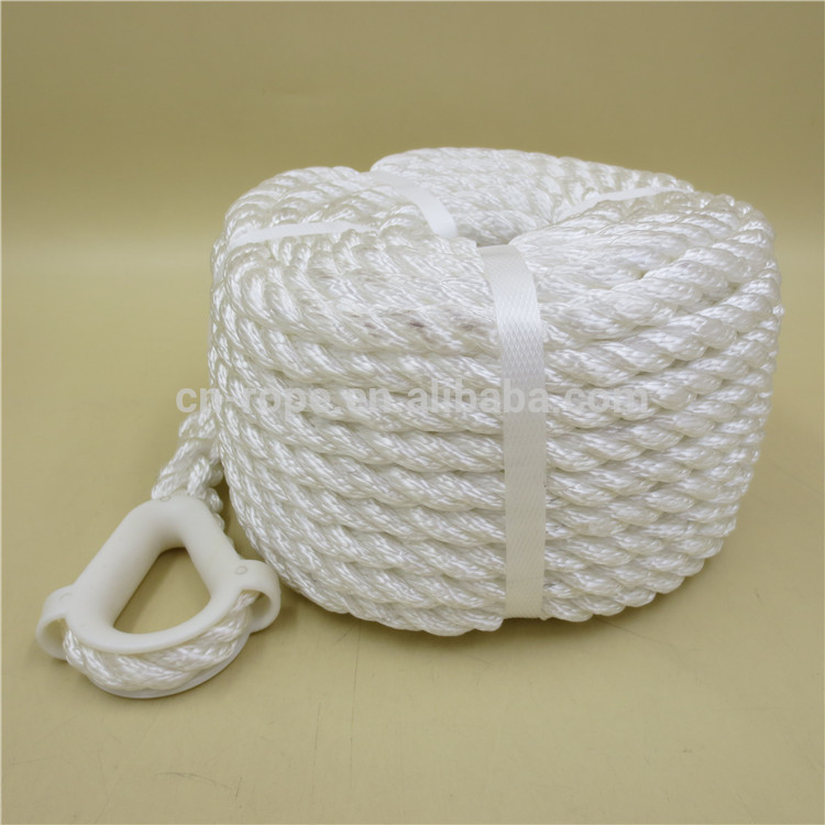 3-strand polyester rope/yacht braid rope/marine anchor rope
