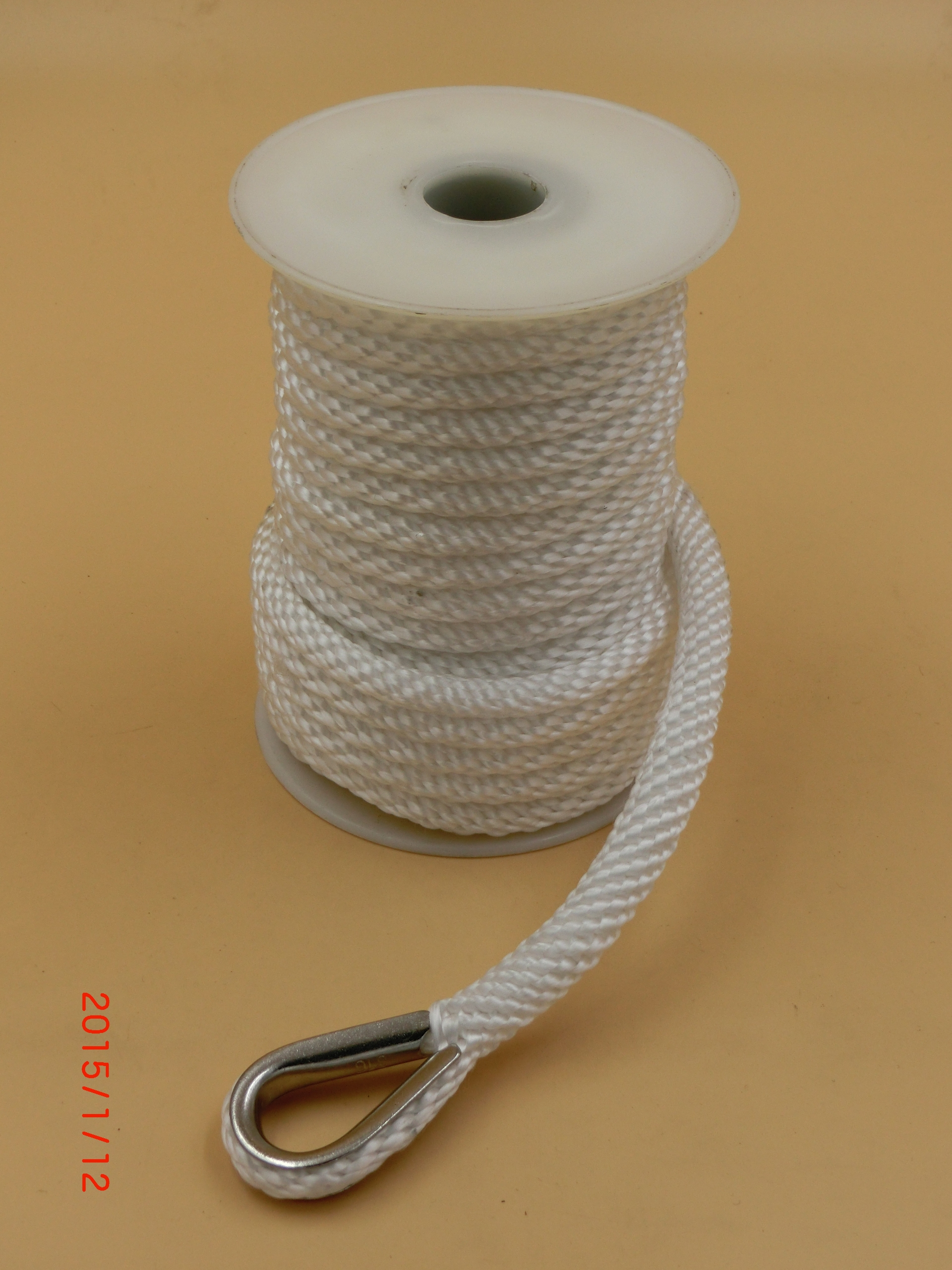 double braided nylon polyester anchor rope