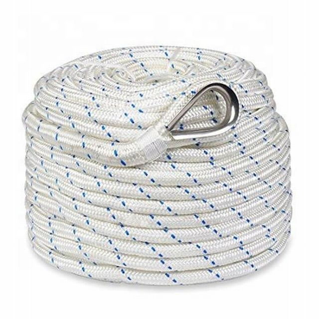 boat anchor rope for ship Nylon double braided anchor Rope nylon Rope