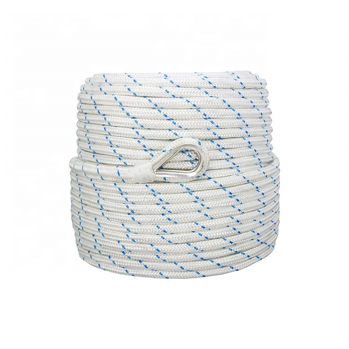 boat anchor rope polyester anchor double braided Marine anchor line