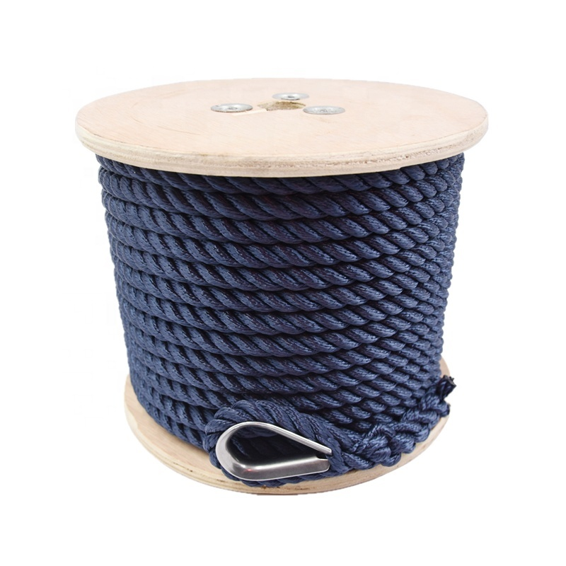 Latest Anchor Line with Thimble UV Resistance Marine Mooring Rope for Boat