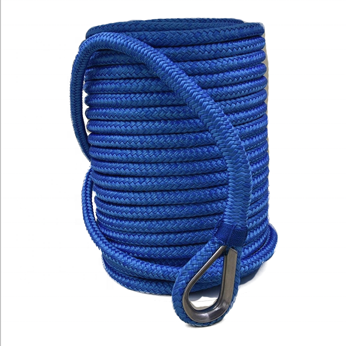 white polyester Anchor lineDouble braided polyester rope anchor rope