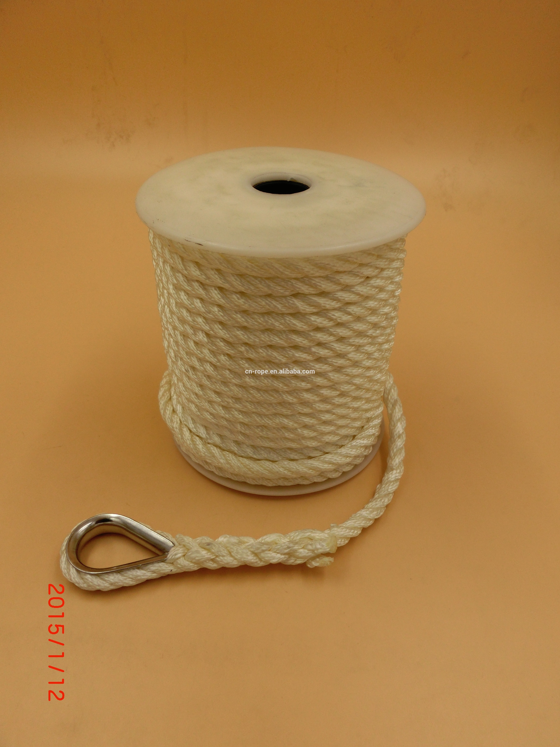 3 twisted strand anchor rope nylon rope manufacturer rope anchor