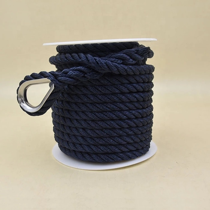 mooring rope double braided anchor rope with thimble boat anchor rope