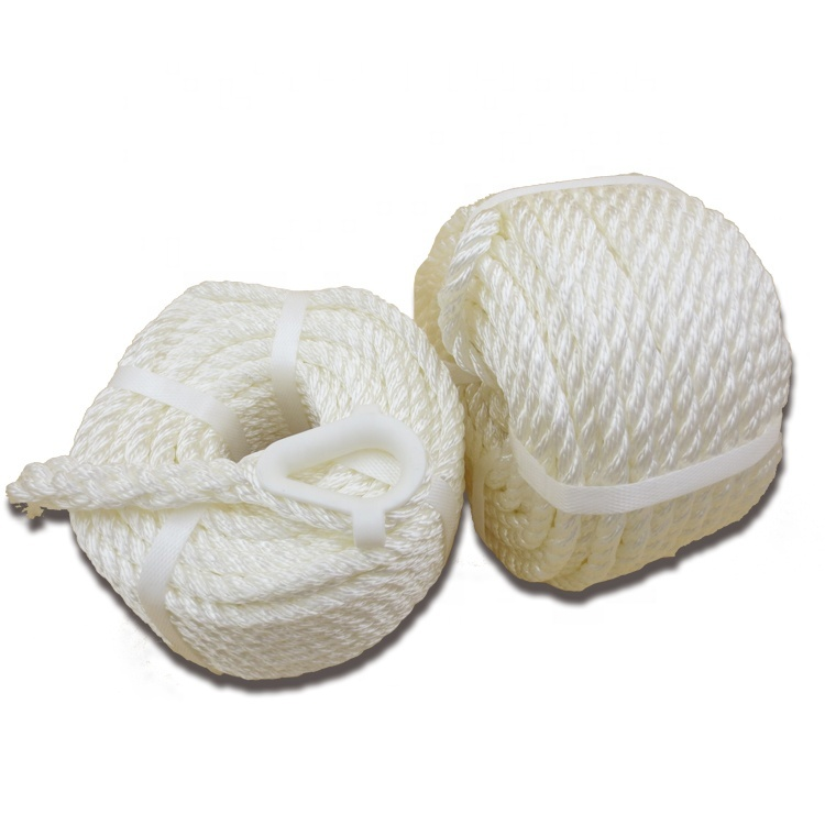 Hot Selling 3 Strand Twisted Anchor Line with Nylon Thimble Boat Mooring Rope