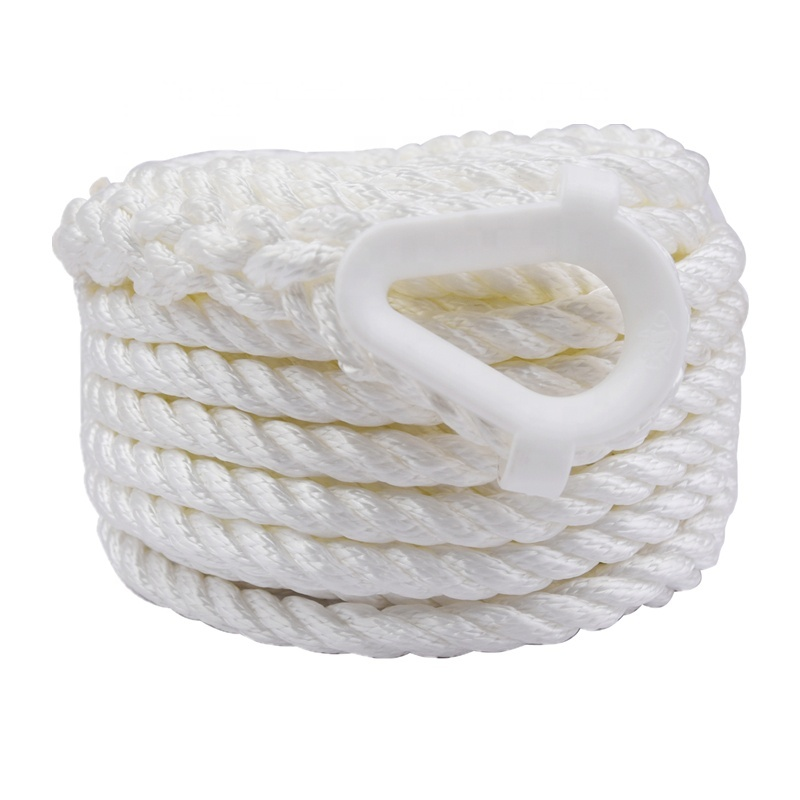 Hot Selling UV Resistance Boat Accessory Mooring Cordage Nylon Polyester Anchor Line