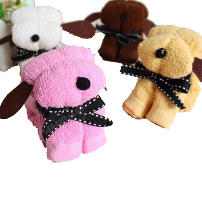 luxury custom creative Christmas/wedding gifts cupcake souvenir cake towel gift hand towel dog shape
