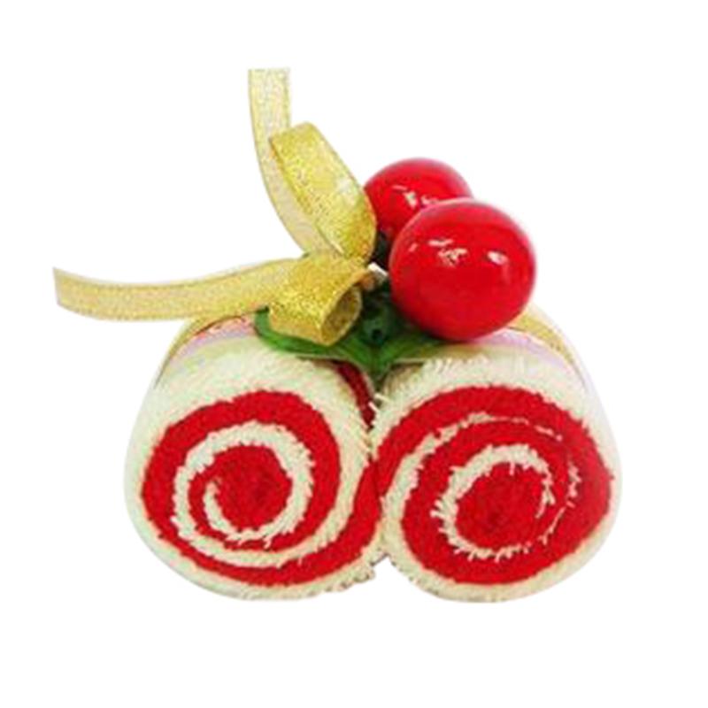 luxury custom creative Christmas/wedding gifts cupcake souvenir cake gift kitchen towel