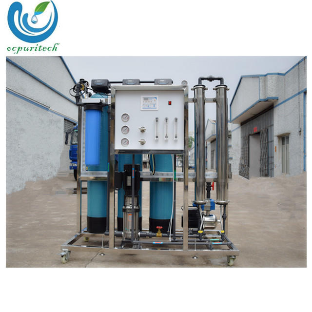 Easy to install 500LPH reverse osmosis water treatment system plant
