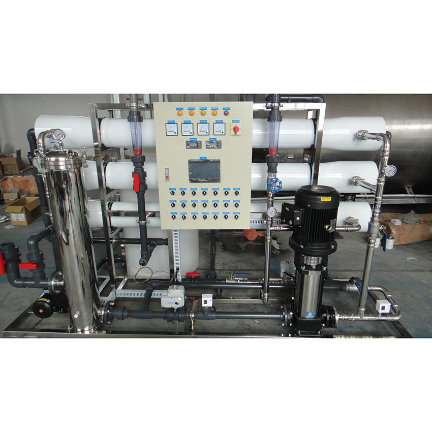 Touch screen in 6000LpH reverse osmosis(RO) water treatment plant