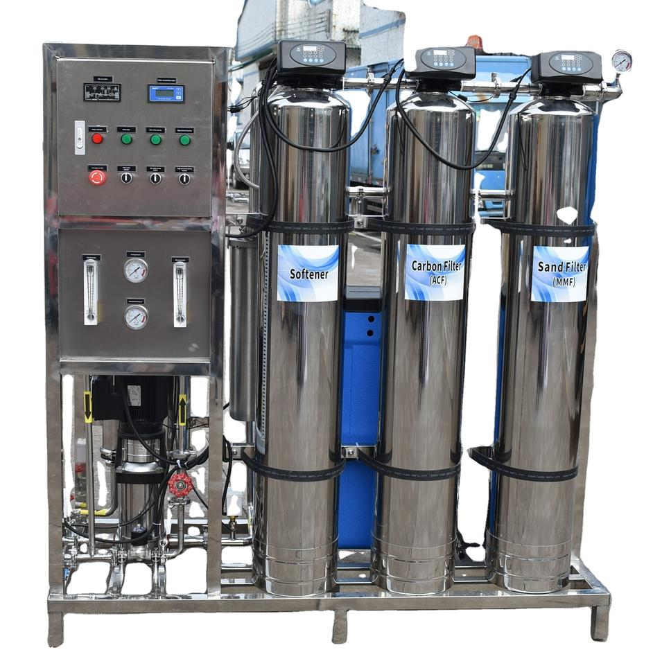 Stainless-steel-500LPH-reverse-osmosis-water-purification popular machine