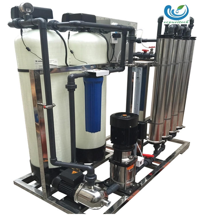 1000LPH water treatment plant dialysis with sand filter and carbon filter