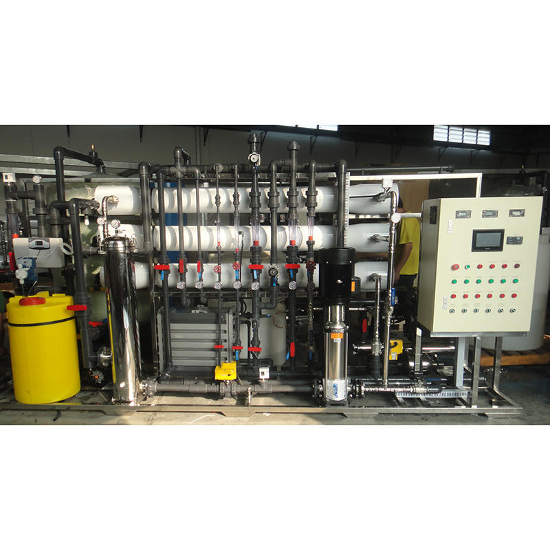 6000L/Hr RO+EDI deionization water purification RO system plant