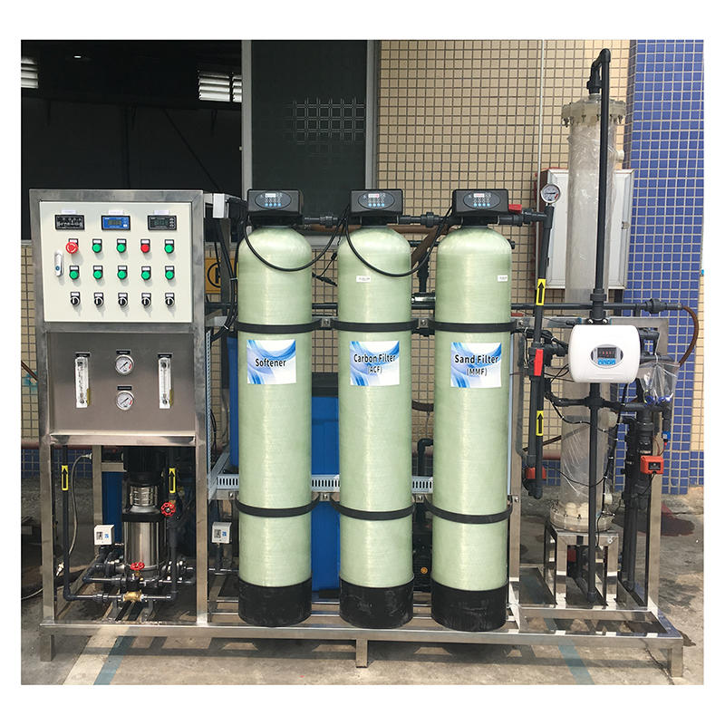 250 LPH reverse osmosis water treatment mixed bed system ro plant price