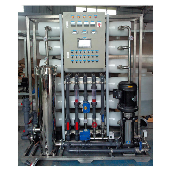 Mixed bed with stainless steel 6TPH water filter equipment