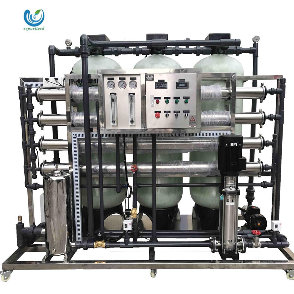2000L per hour high recovery rate design reverse osmosis system mineral drinking water treatment plant